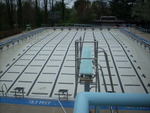 Before major renovation for City of Rockville Maryland pool