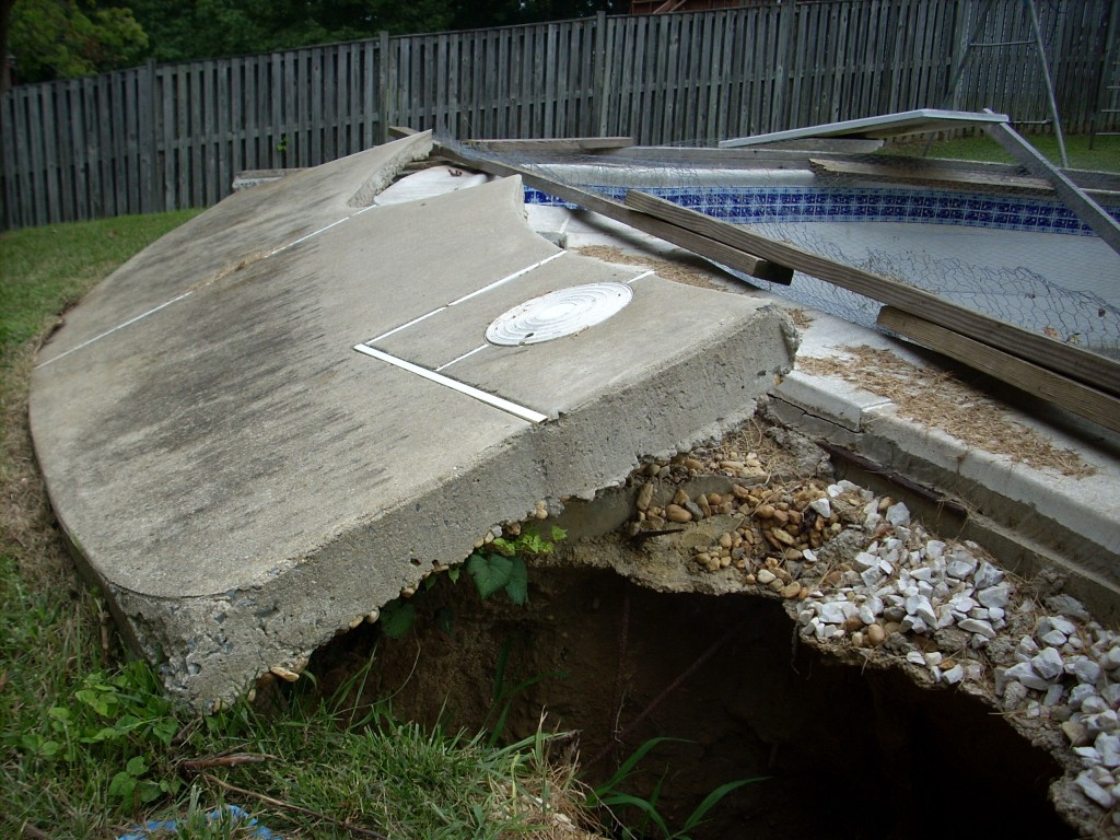 Swimming Pool Damage