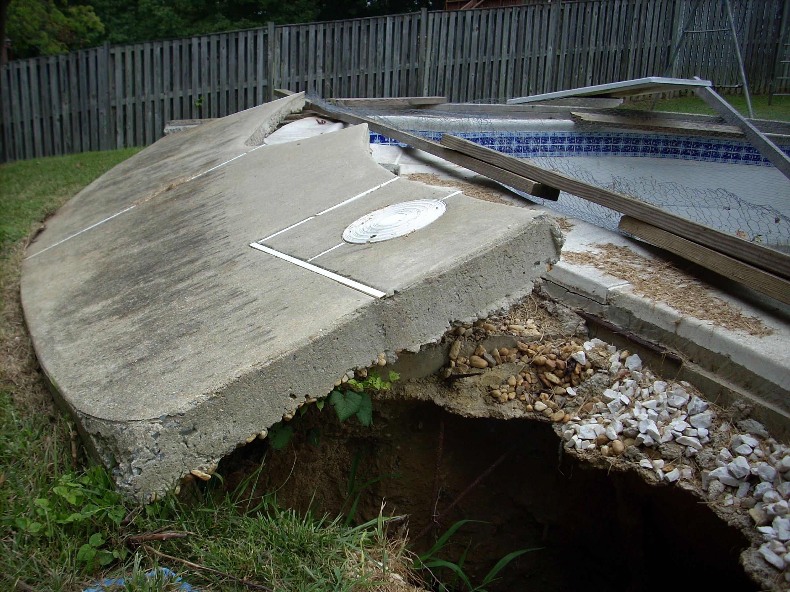 Flood Damaged Swimming Pool : Swimming pool renovations spprcspprc